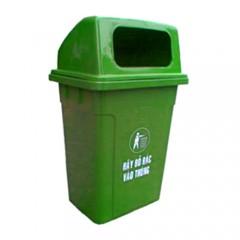 thùng rác nhựa 50 lít nắp hở