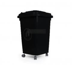 thùng rác nhựa 60 lít màu đen