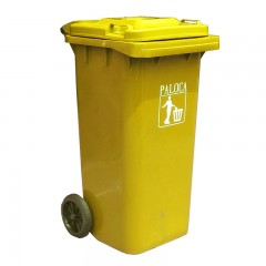 Thùng rác nhựa màu vàng 120 lít
