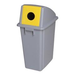 Thùng rác nhựa nắp đậy có lỗ tròn