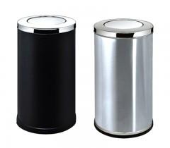 Thùng rác tròn inox có nắp bập bênh cỡ lớn