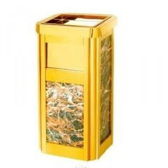 Thùng đựng rác đá hoa cương có gạt tàn thuốc