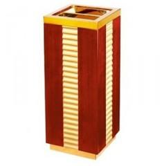 Thùng đựng rác gỗ có khay gạt tàn thuốc