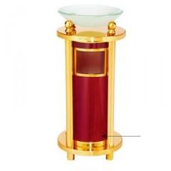 Thùng rác inox mạ vàng có khay thủy tinh đẹp A72B