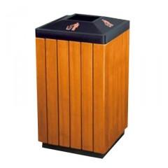 Thùng rác gỗ công nghiệp có nắp bỏ rác hình chóp A78M