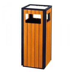 Thùng rác gỗ công nghiệp có khay để gạt tàn A78N
