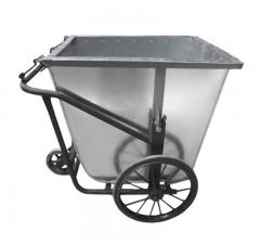 Xe thu gom rác thải bằng tôn 500L