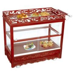 Tủ để bầy thức ăn di động bằng kính