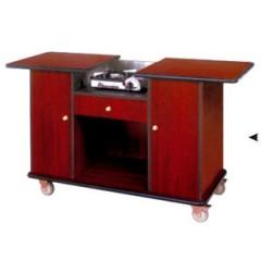 Tủ bếp di động đẹp cao cấp bằng gỗ