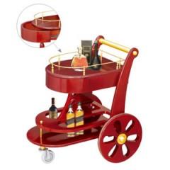 Xe đẩy rượu cao cấp bằng gỗ 2 tầng WY-111