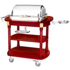 Bếp di động phục vụ có nồi hâm nóng Buffet chữ nhật