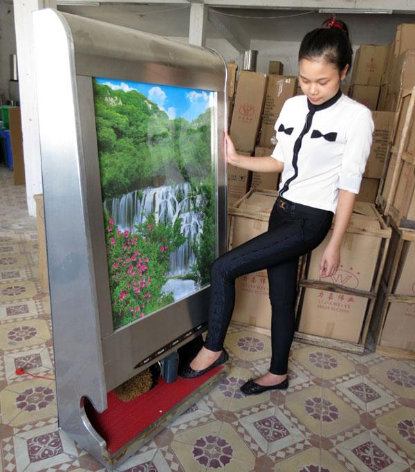 máy đánh giầy khách sạn
