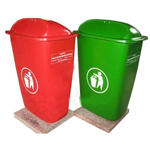thùng rác nhựa 50l chống cháy
