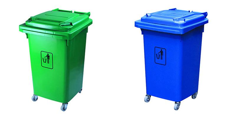 Thùng rác nhựa 50l màu xanh từ nhựa HDPE