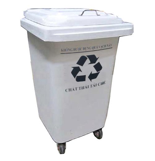 thùng rác màu trắng 90 lít