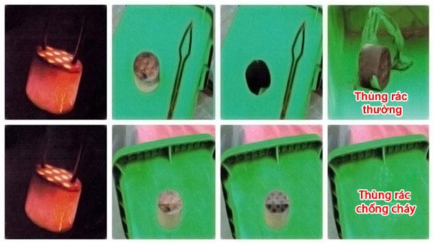 Khả năng chống nhiệt cao cực kỳ cao của thùng rác nhựa Composite