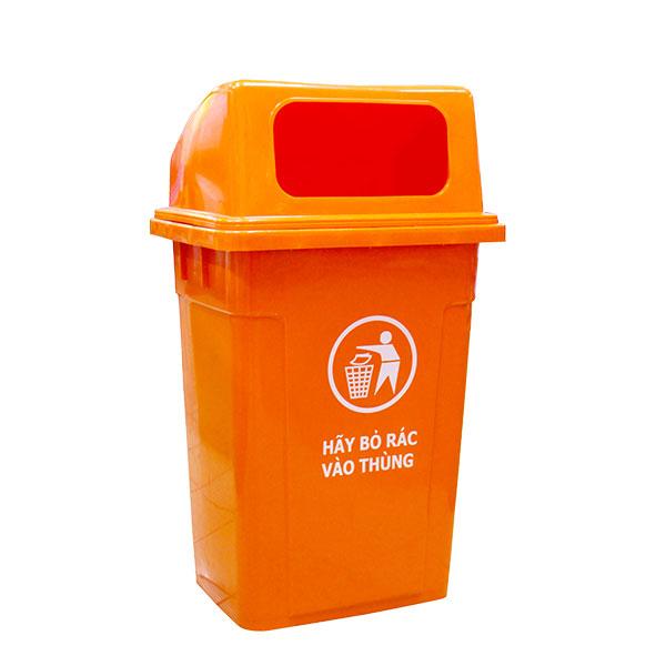 Thùng rác công cộng 90 lít chất liệu nhựa HDPE