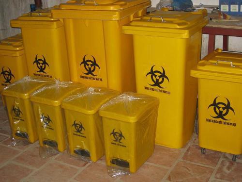 thùng rác màu vàng dung tích 90-120-240l