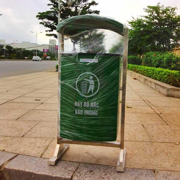thùng rác nhựa treo đơn