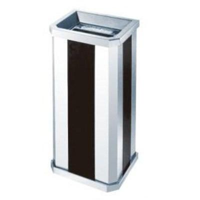thùng rác inox đen trắng