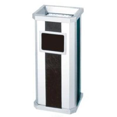 Thùng rác inox đen trắng có cửa bỏ rác