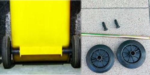 Bánh xe thùng rác nhựa, bánh xe chịu lực chị tải của thùng rác