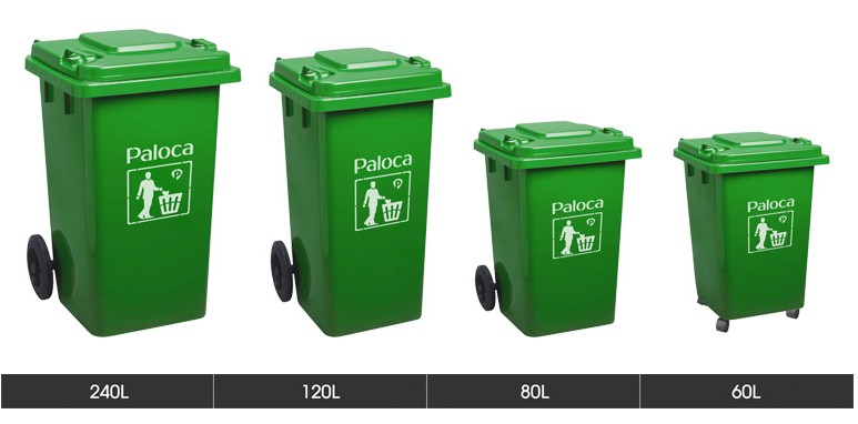 Kích cỡ các loại thùng đựng rác có nắp đậy kín