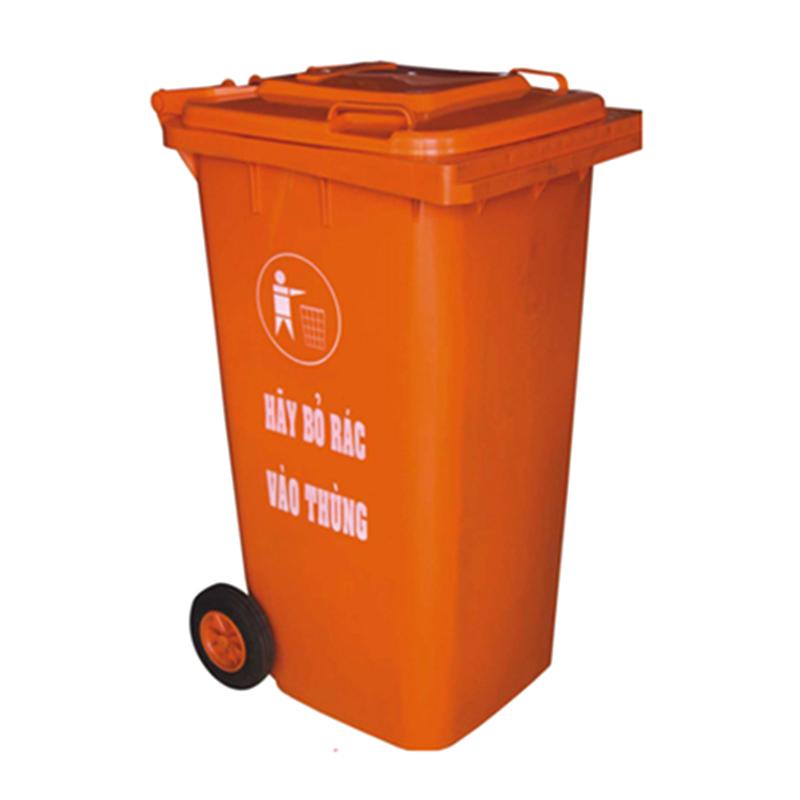 thùng rác 240 lít màu cam