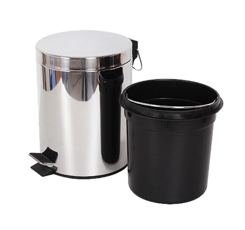 thùng rác inox đạp chân 5 lít