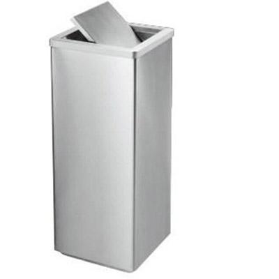 Thùng rác inox vuông nắp lật