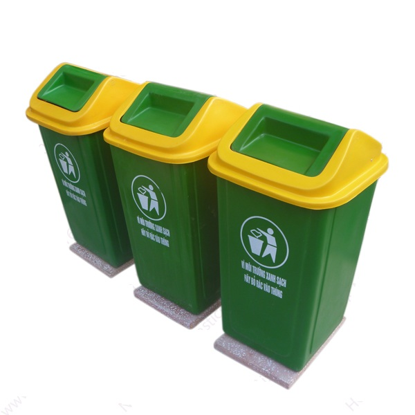 thùng rác nhựa cố định 90 lít