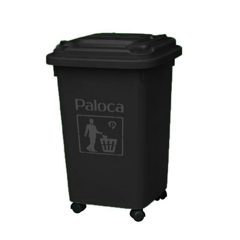 thùng rác 90 lít màu đen