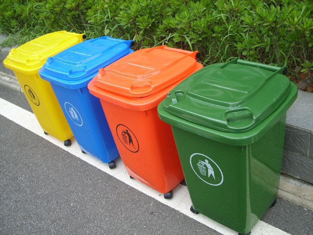 Thùng rác nhựa 50 lít nắp kín, thùng rác nắp kín 50 lít nhựa HDPE