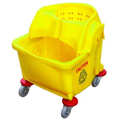 xô lau nhà có bánh xe và giỏ vắt tròn